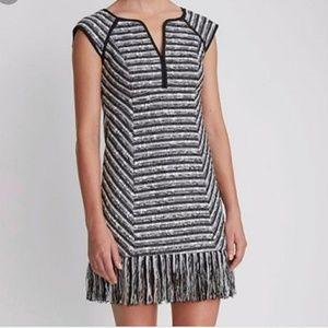 8 Nanette Lepore Tweed Dress Fringe Hem